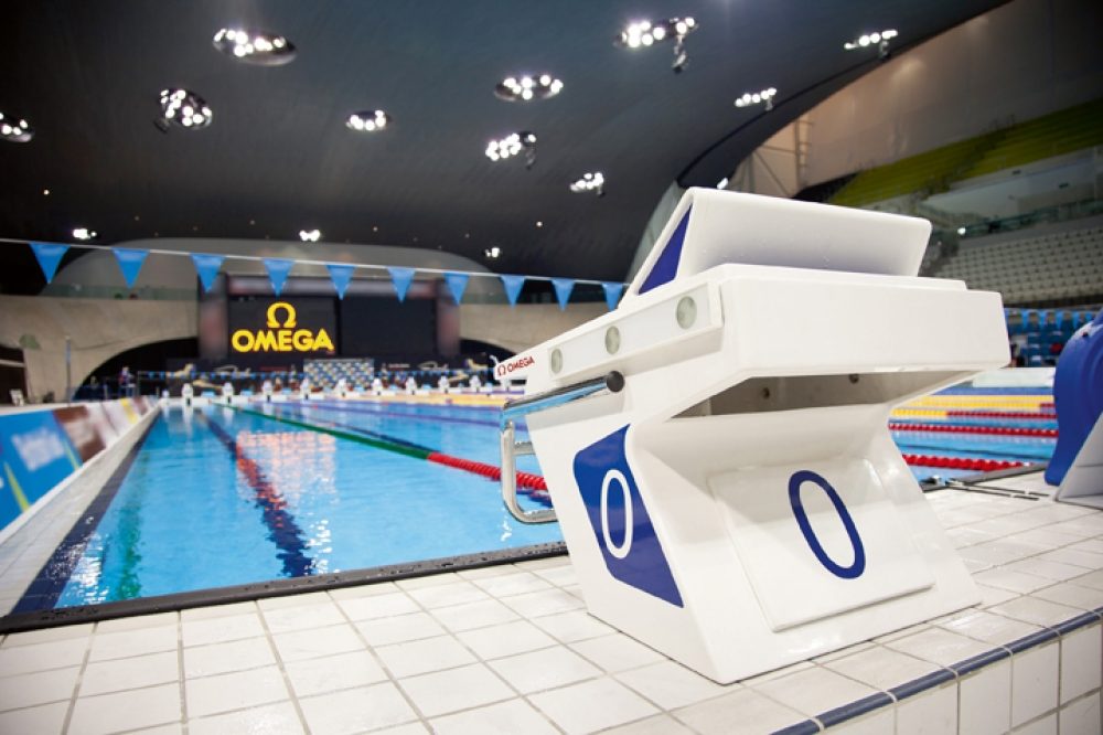 Olympic Swimming Starting Blocks manifesto - an omega special report: the gold standard of timekeeping